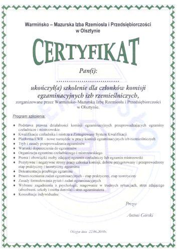 Szkolenie dla członków Komisji egzaminacyjnych
