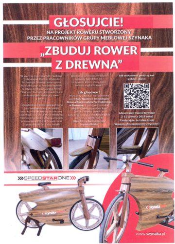 Głosujcie na projekt roweru stworzony przez pracowników Grupy Meblowej Szynaka!